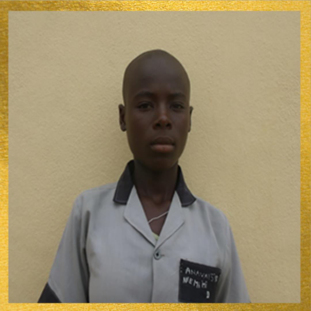 Student posing for school